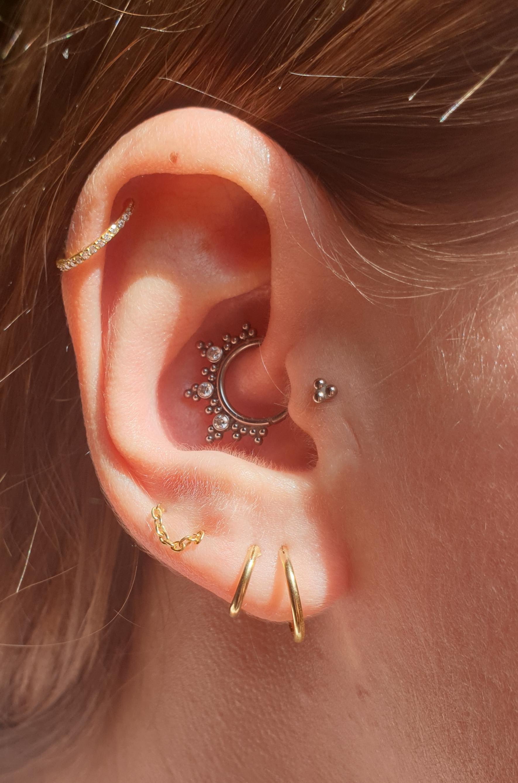 Earparty - Jewelled Click Ring met Swarovski Kristal