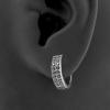 Double Row Zirconia Click Hoops Earrings