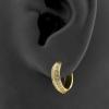 Click Hoop Earrings - Double Row Zirconia's