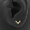 Zirconia V Ear Studs