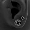 Zirconia Earstuds With Halo Ear Jacket - 4 mm