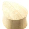 Crocodile Wood Teardrop Plug - Domed