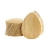 Teak Wood Teardrop Plug - Domed