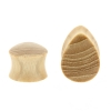 Sungkai Wood Teardrop Plug - Domed