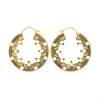 Brass Hoops - Tribal Circles