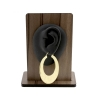 Brass Hoops - Textured