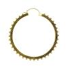 Brass Hoops - Mille Dots