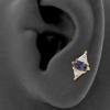 Gold Swarovski Zirconia And Topaz Marquise Diamond