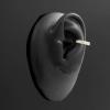Gold Conch Clicker - Zirconia Princess Cut