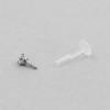 Jewelled Bioplast Labret - 2mm Swarovski Zirconia