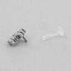 Jewelled Bioplast Labret - Swarovski Zirconia Cross 8,5mm