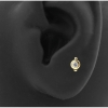 Gold Swarovski Zirconia Dots - Threadless