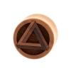 Penrose Triangle Plugs - Sawo Wood