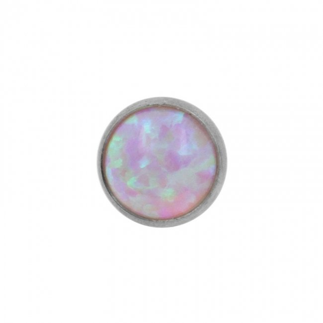 Cabochon opal disc - for 1,6mm piercing jewelry