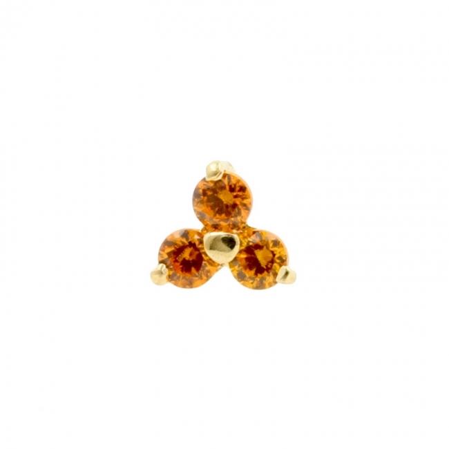 Microdermal Trinity with Swarvoski Gems