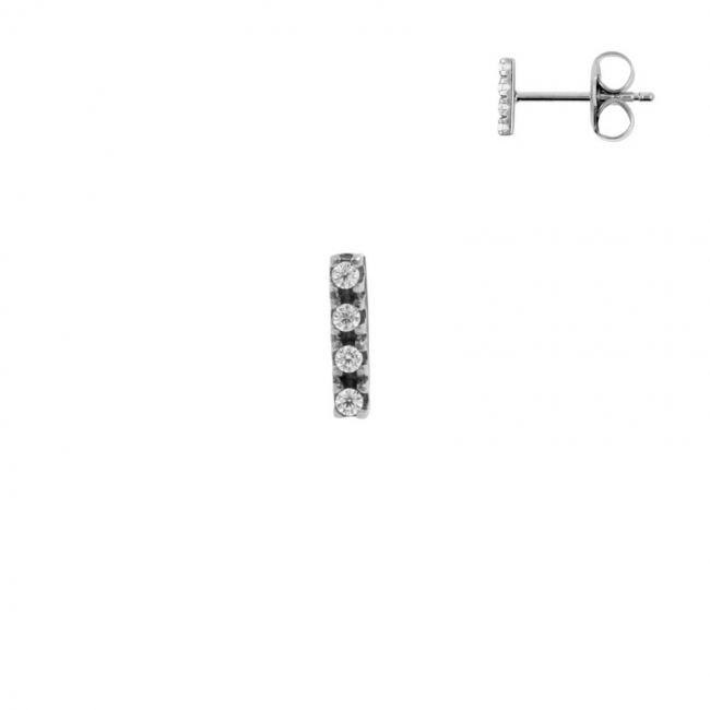 Ear Studs - Zirconia Stack Small