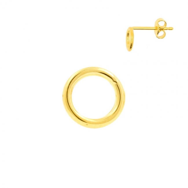 Ear Stud with Circle Design