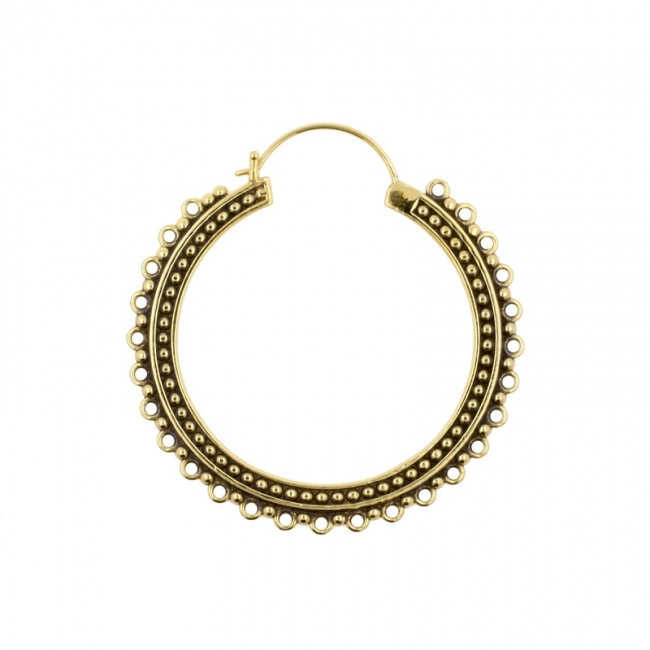 Messing Hoops - Dotted Lace