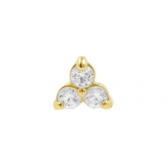 Gold And Zirconia Trinity