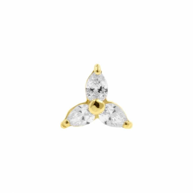 Gold Swarovski Zirconia Trinity