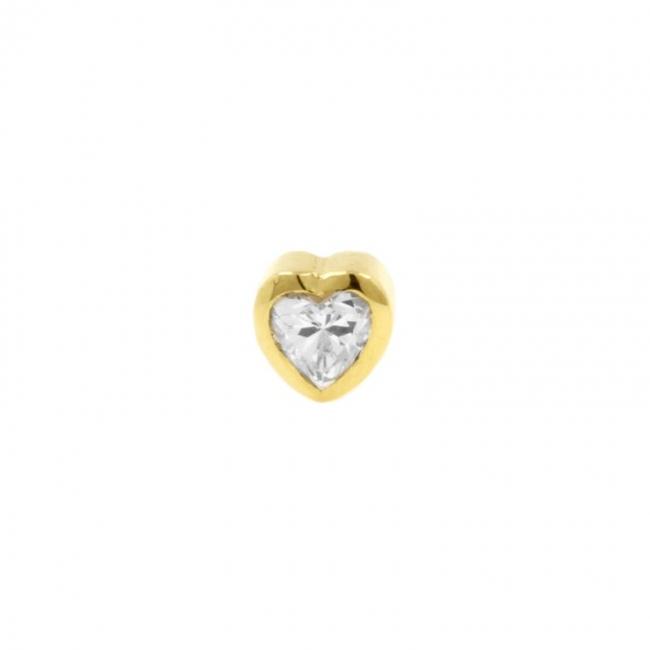 Gold Swarovski Zirconia Heart
