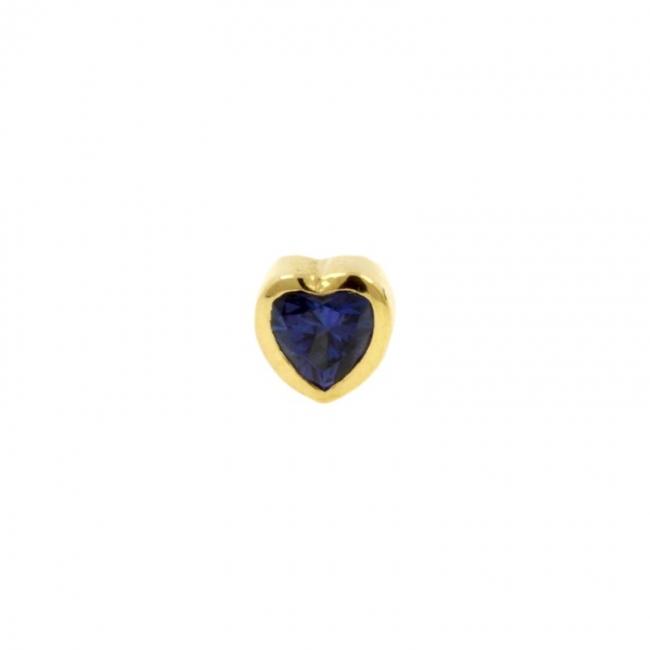 Gold Swarovski Topaz Heart