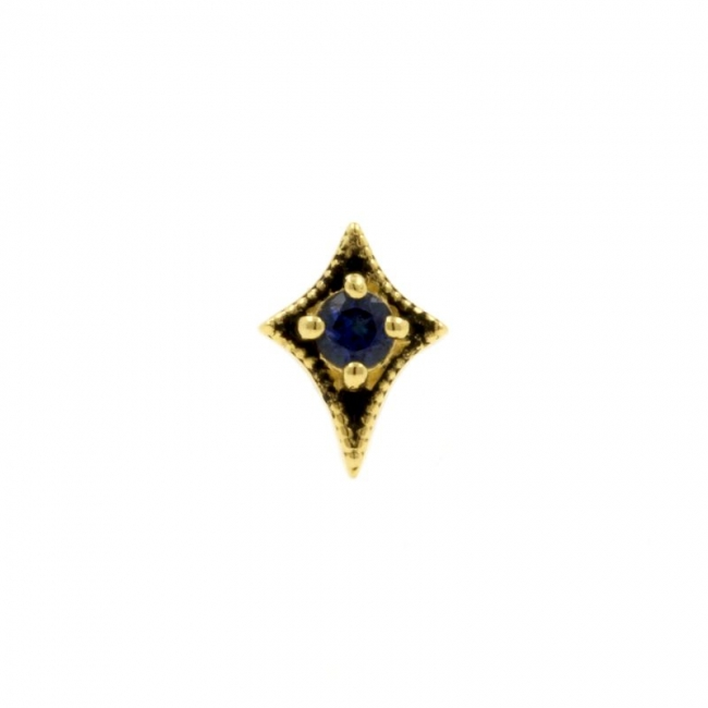Gold Swarovski Zirconia And Topaz Dotted Star