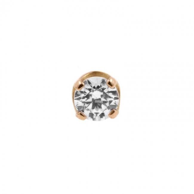 Rose Gold Swarovski Zirconia Attachment - Threadless