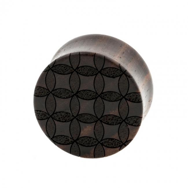 Circle Pattern Plugs - Sono Wood