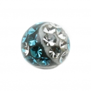 Multi jewelled ball Yin-Yang