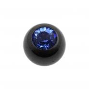 Jewelled threaded ball