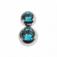Double Jewelled Clip-in Ball