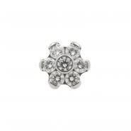 Push Fit Titanium Gemmed Flower