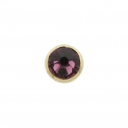 18 Karat Gold Jewelled Disc - for 1,6mm piercing jewelry