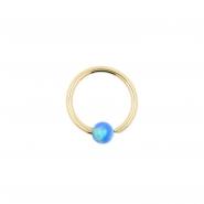 Gold Fixed Opal Ball Closure Ring