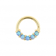 Gold Ring With 5 Opals