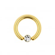 Jewelled Ball Closure Ring