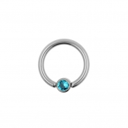 Flat Disc Smile Ring