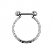 Triple Conch Ring With Barbell