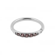 Helix Click Ring with Swarovski™ Gems