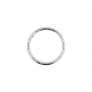 White Golden Click Ring