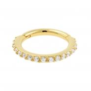 Golden Click Ring set with Swarovski Zirconia