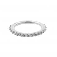 White Gold Click Ring With Swarovski Zirconia