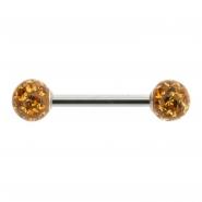 Multi jewelled nipple barbell