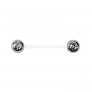 Jewelled Bioplast Nipple Barbell