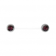 Jewelled Bioplast Nipple Barbell