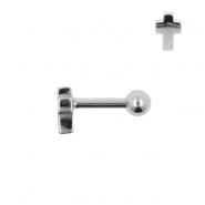 Tragus Helix Barbell Cross