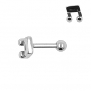 Tragus Helix Barbell Music Note