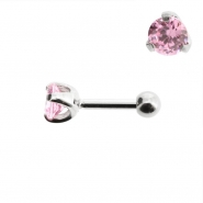 Mini Helix barbell with 4mm facetted zirconia