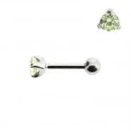 Mini Helix barbell with 3mm facetted zirconia